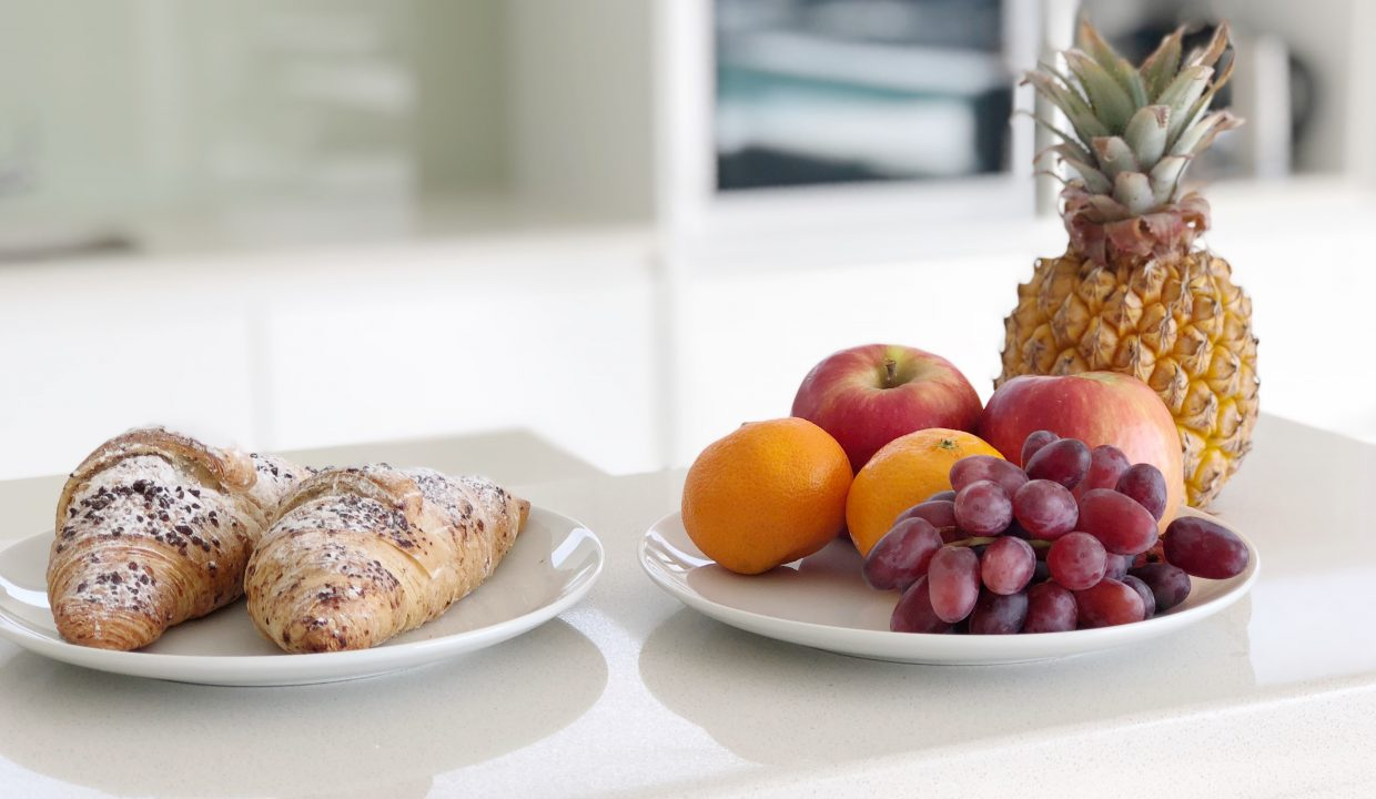 Penthouse Kitchen Detail with Fruits