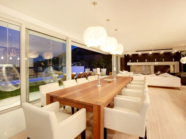 7.Sunset Long dining table area